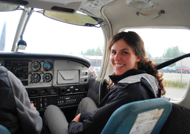 As if riding in a tiny 5-passenger plane for the first time wasn't enough, I got to be the co-pilot too during my trip to Alaska!